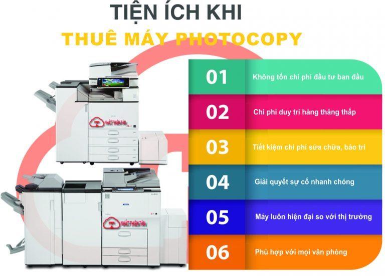Tiện ích khi thuê máy photocopy tại Nhất Thiên Tân